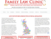 Tablet Preview of familylawclinic.co.uk